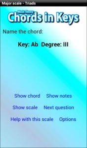 Music theory app - major scale