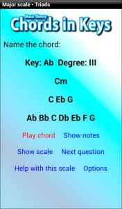 music theory app - chords in keys Gbmaj7