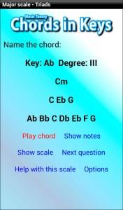 music theory app - chords in keys Gbmaj7