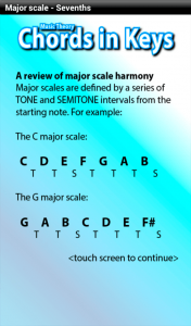 music theory app - chords in keys - harmony