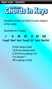 Music theory app - chords in keys - harmony help