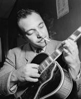 Guitarist Django Reinhardt hands
