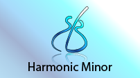 harmonic minor scale three notes per string