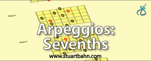 Guitar arpeggios sevenths