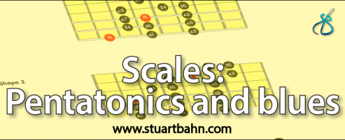 scales pentatonics and blues