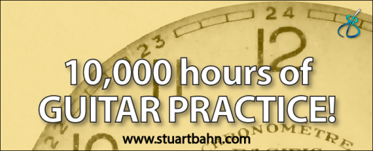 10,000 hours of guitar practice
