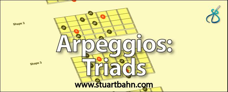 Guitar arpeggios triads