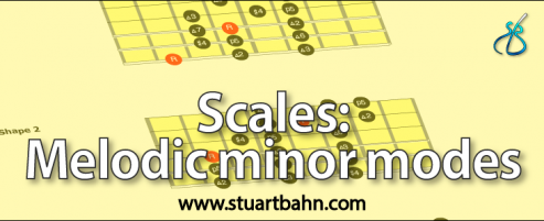 guitar scales melodic minor modes