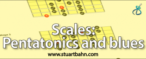 scales pentatonics and blues