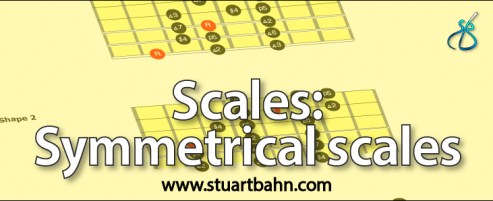 Symmetrical scales for guitar