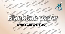 Blank tab paper