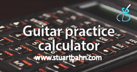 Guitar practice calculator