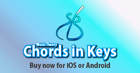 Music theory - Chords in Keys for Android and iOS