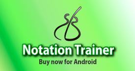 Notation Trainer, sight reading app