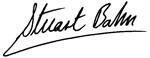 Stuart Bahn signature